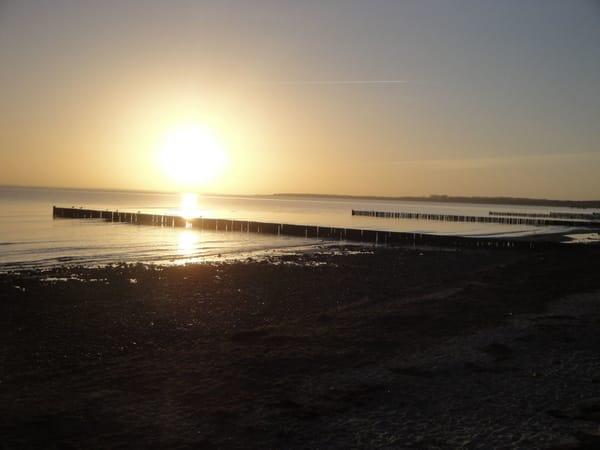 Sonnenaufgang, 250 m zum Strand