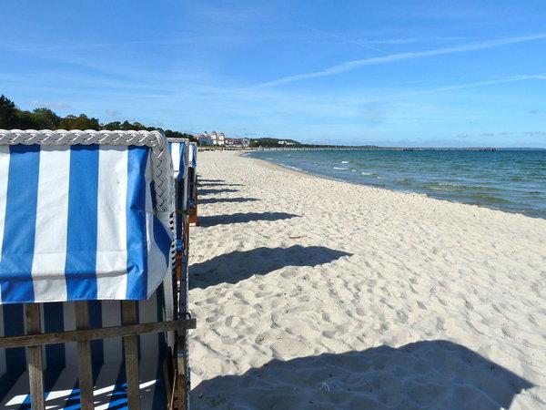 Der Strand vor der Villa Agnes.