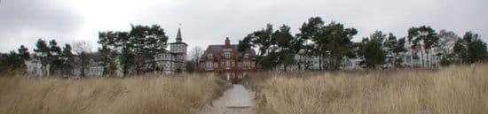 Die Villa Glückspilz liegt direkt am feinen weißen Badestrand (hier ein Winterbild).