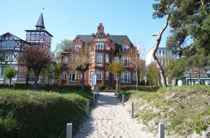 Die Villa Glückspilz direkt am Binzer Strand.