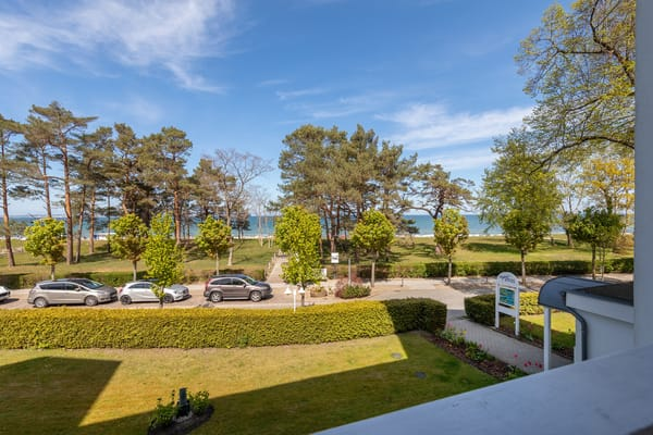 ... einen wunderbaren Blick auf die Ostsee und bis zur Seebrücke.