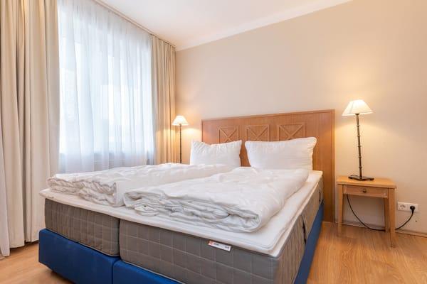 Leider waren zum Fototermin die Betten nicht bezogen. Dafür sehen Sie jetzt die guten Matratzen :) ...