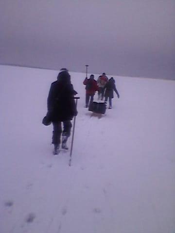 Boddenüberquerrung im Winter
