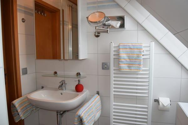 Spiegelschrank,Handtuchheizung u.Fenster