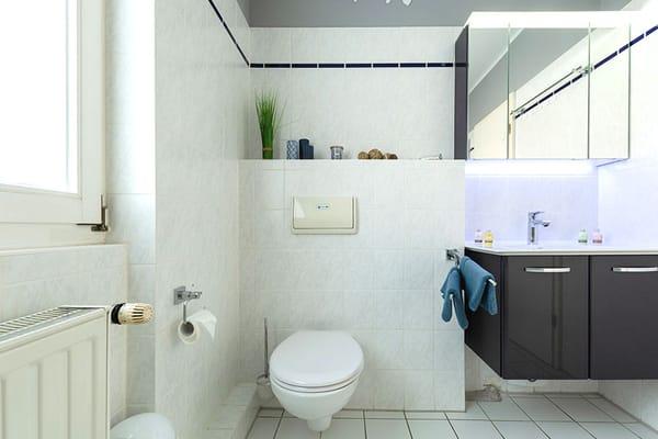 WC und Waschbecken im Badezimmer