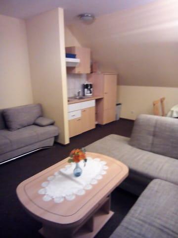Wohnzimmer und Küchenzeile