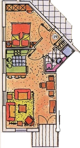 Grundriss der Wohnung 19