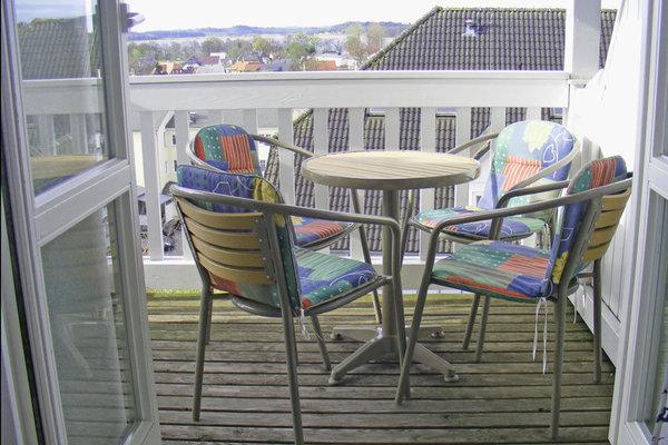 Balkon über den Dächern von Sellin