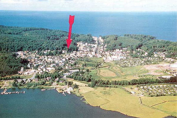 Lage der Parkresidenz Concordia im Ostseebad Sellin