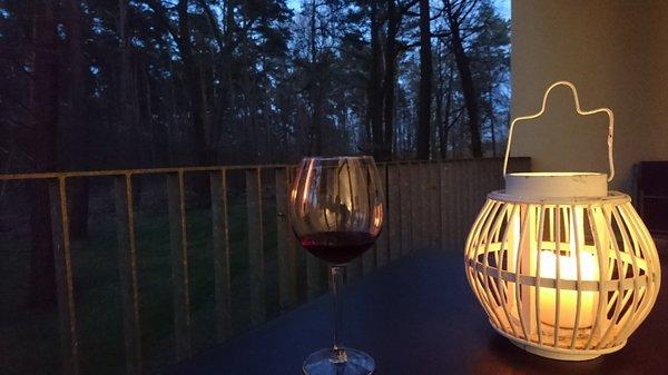 Abendstimmung auf der Terrasse