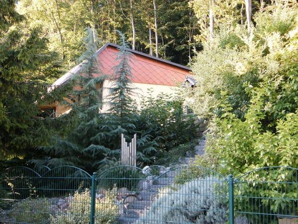 Ostseite des Ferienhauses