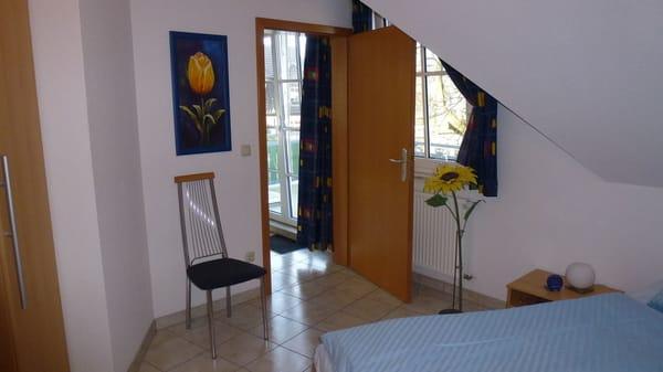 Blick aus dem Schlafzimmer 1