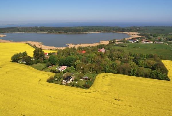 Luftbild mit Sicht in Richtung Kap Arkona