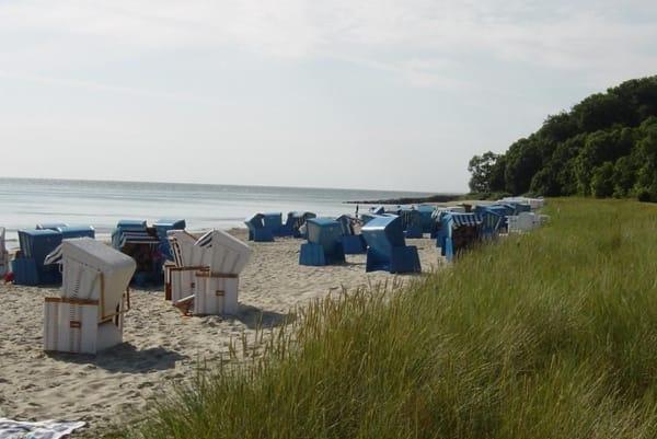 Der Badestrand in Thiessow (mit und ohne Strandkörbe)