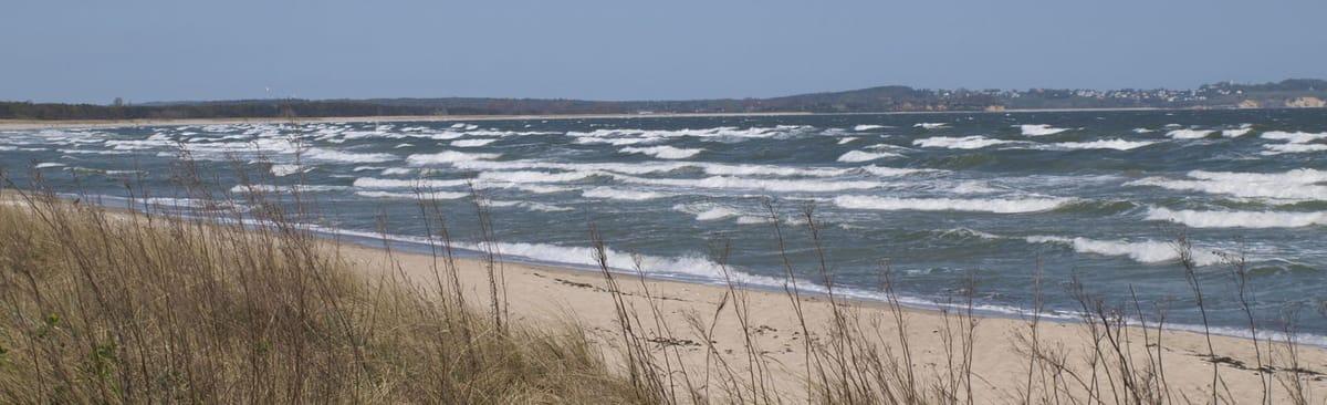 Thiessow Strand; Blick nach Göhren