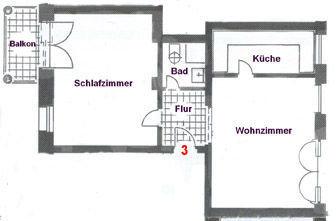 """Grundriß Ferienwohnung """"Skippers Cabin""""."""