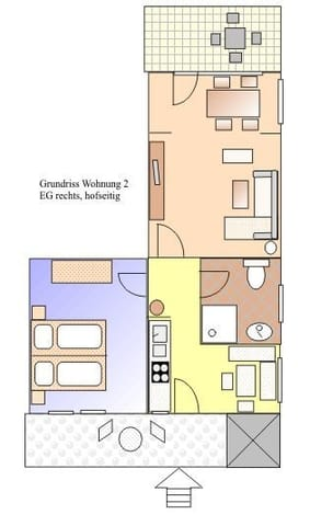 Skizze Grundriss Wohnung 2 EG