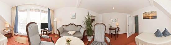 Suite Wohnraum mit Aufbettung