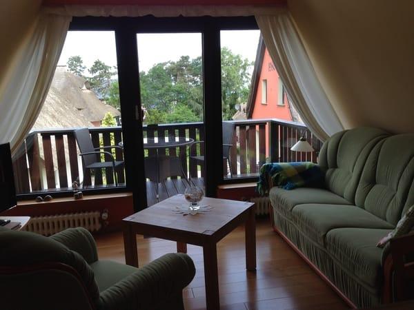 Blick auf den Balkon
