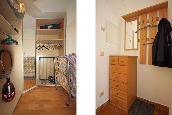 Abstellraum mit Kleiderschrank - Garderobe