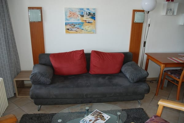 Wohnraum mit Schlafsofa