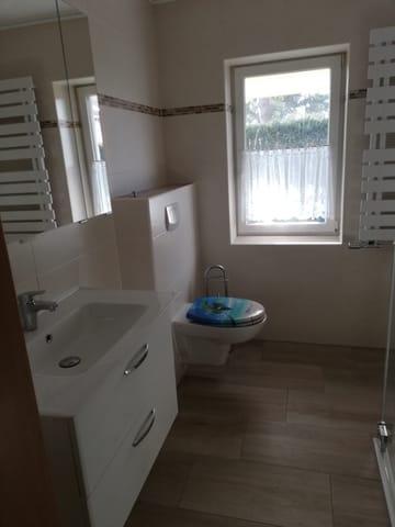 Blick ins Badezimmer /WC