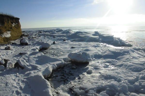 Eisküste vor Klein-Zicker