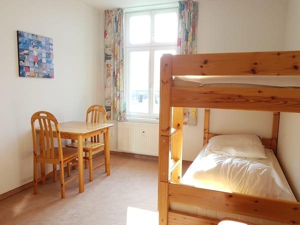 Das 2. Schlafzimmer mit Etagenbett