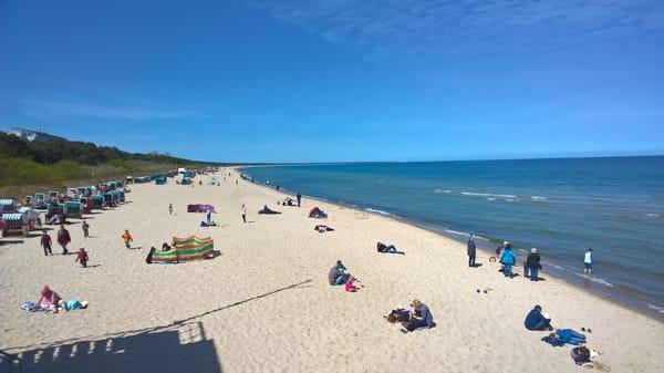 Sonne, Sand und blaues Meer