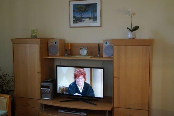 Moderner Flachbild-Fernseher im Wohnzimmer