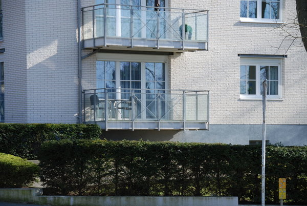Blick auf Balkon