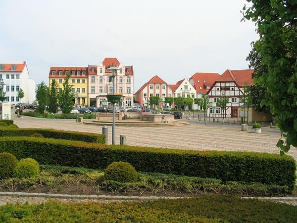 Blick auf den Bergener Markt