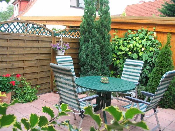 Sitzecke auf der Terrasse