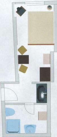 Grundriss Zimmer unten
