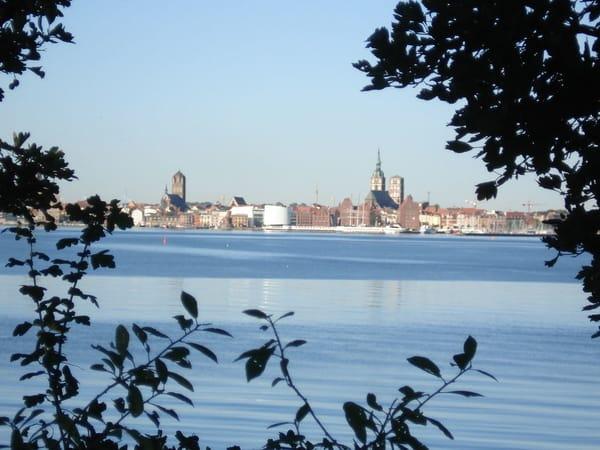 Blick zum Festland (Hansestadt Stralsund)