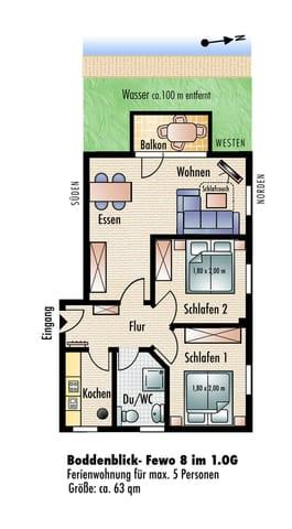 Grundriss Wohnung 4