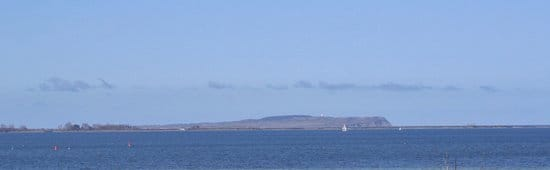 Blick vom Balkon zur Insel Hiddensee