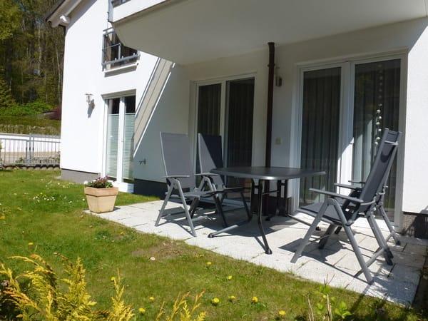 Die Terrasse zum Sonnen und Relaxen