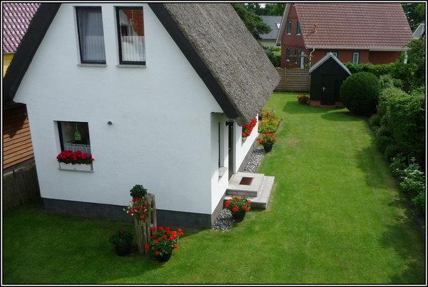 Blick zum Ferienhaus Ilona