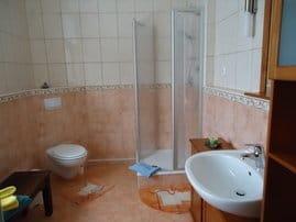 großes Bad mit Dusche