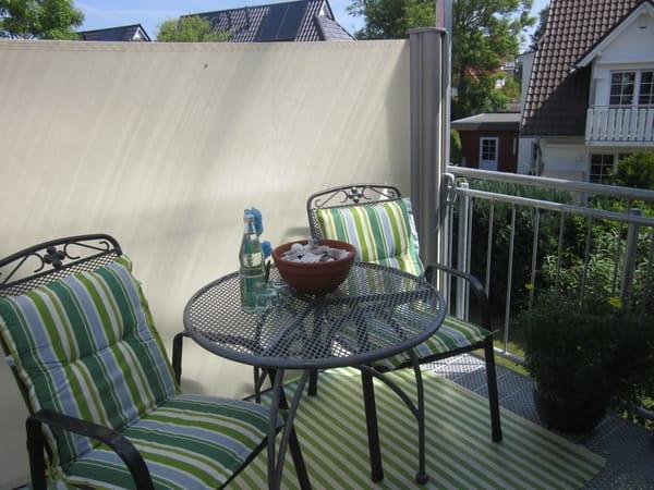 Balkon gemütlich oben sitzen