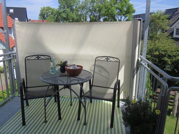 der kleine gemütliche Balkon