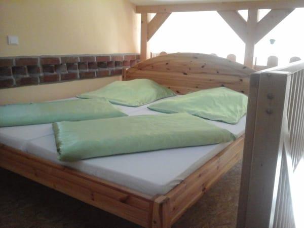 Schlafbereich auf der Empore