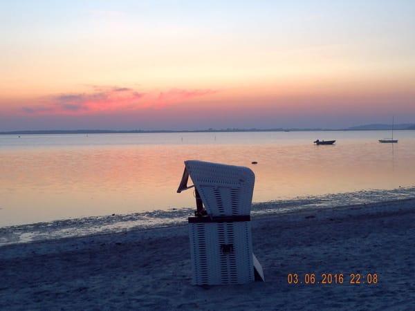 Abendstimmung Strand Schaprode