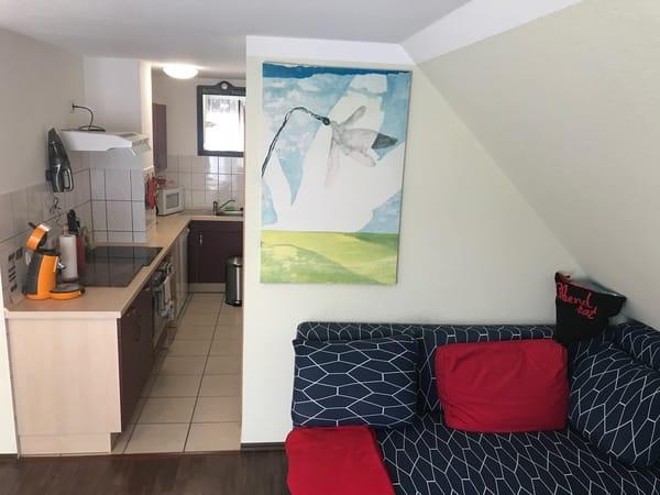 Wohnzimmer-Küche