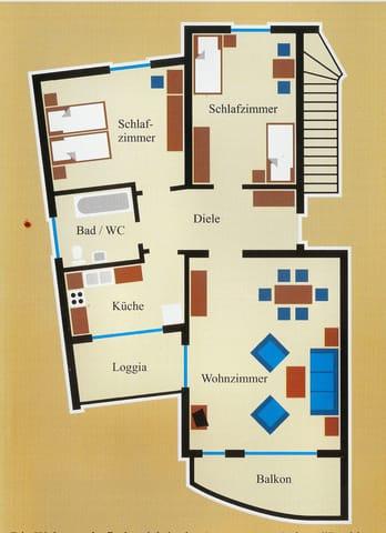 Grundriss der Wohnung (87 qm)