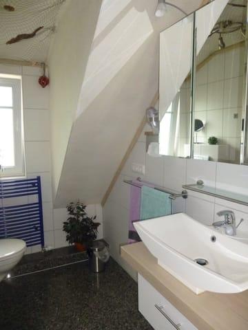 gemütliches Badezimmer, hier genießt man den Start in den Tag