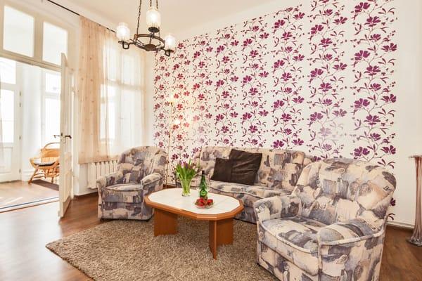 Villa See-Eck FeWo Erdgeschoss - Wohnzimmer
