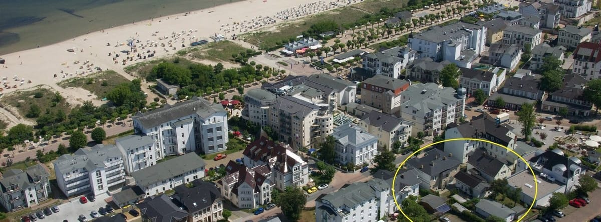 Panorama Luftbild Ferienobjekte Ahlbeck