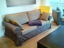 Couch neu bezogen